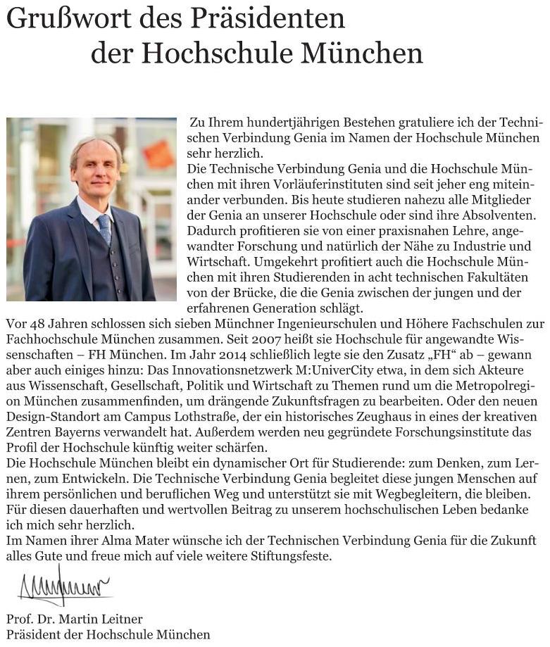 Grußworte von Dr. Martin Leitner