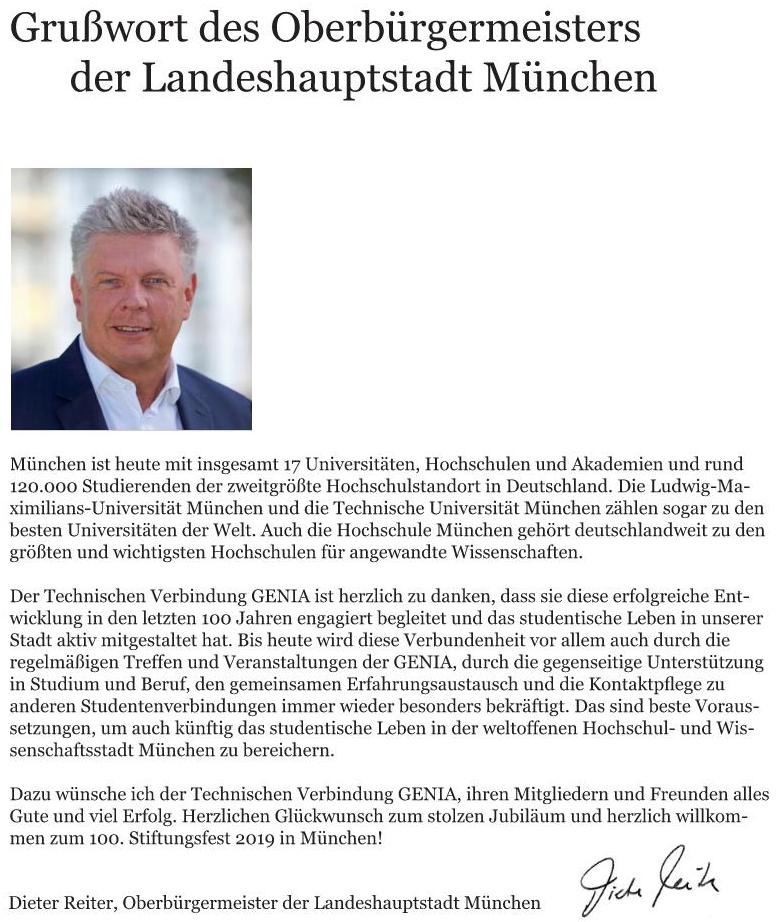 Grußworte von Dieter Reiter